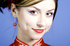 Junge Frauen-Portrait Lizenzfreies Stockbild