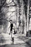 Junge Frauen-Portrait Schwarzweiss-Foto Pekings, China lizenzfreies stockbild