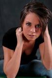 Junge Frauen-reizvoller Blick Lizenzfreie Stockbilder