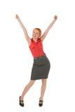 Junge freuende Frau Lizenzfreie Stockbilder