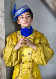 Junge gekleidet als Prinz lizenzfreie stockfotos