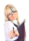 Junge Geschäftsfrau Lizenzfreie Stockfotos