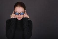 Junge Geschäftsfrau in den Gläsern Lizenzfreies Stockfoto