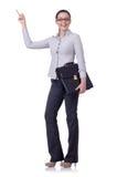 Junge Geschäftsfrau getrennt Stockfoto