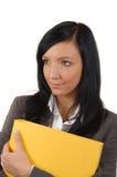 Junge Geschäftsfrau-Liebesarbeit im Büro Stockfotografie