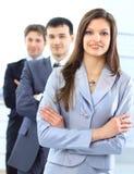 Junge Geschäftsfrau mit Lizenzfreies Stockfoto