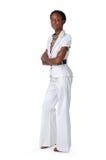 Junge Geschäftsfrau-Stellung Stockfotos