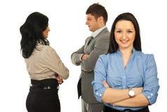 Junge Geschäftsfrau und ihr Team Lizenzfreies Stockfoto