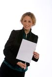 Junge Geschäftsfraustellung Stockbilder