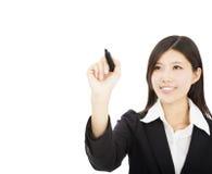 Junge Geschäftsfrauzeichnung Lizenzfreie Stockfotos