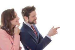 Junge Geschäftsleute in der Sitzung Stockfotos
