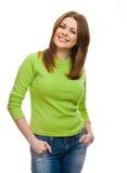 Junge glückliche Frau Lizenzfreies Stockfoto