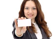 Junge glückliche Geschäftsfrau Lizenzfreies Stockfoto