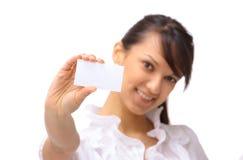 Junge glückliche Geschäftsfrau mit Lizenzfreies Stockfoto
