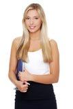 Junge glückliche lächelnde Geschäftsfrau. lizenzfreies stockfoto