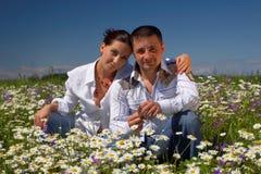 Junge glückliche Paare Lizenzfreies Stockfoto