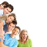 Junge glückliche Leute Stockfoto