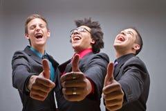 Junge Gruppe junge und modische Geschäftsleute Stockfotos