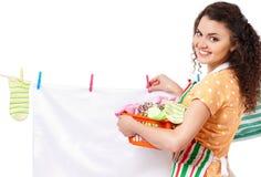 Junge Hausfrau Lizenzfreie Stockfotos