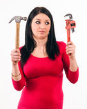 Junge Hausfrau Lizenzfreies Stockfoto