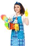 Junge Hausfrau Stockfoto