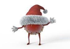 Junge herrliche Frau als Weihnachtself auf goldenem Hintergrund mit leerer Rolle Lizenzfreie Stockbilder