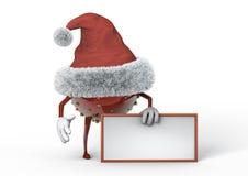 Junge herrliche Frau als Weihnachtself auf goldenem Hintergrund mit leerer Rolle Stockbild