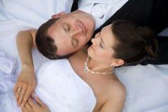 Junge Hochzeitspaare Lizenzfreies Stockbild