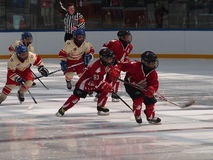 Junge Hockey-Spieler Stockfoto