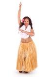 Junge hula Tänzeraufstellung Stockbild
