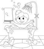 Junge im Badezimmer Lizenzfreie Stockbilder