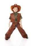 Junge im Cowboykostüm Stockbild