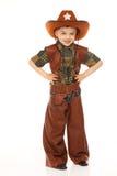Junge im Cowboykostüm Stockfotos