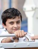 Junge im Park Lizenzfreies Stockbild