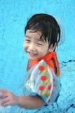 Junge im Pool Lizenzfreies Stockfoto