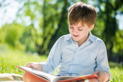 Junge im Sommerpark Stockfoto
