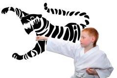 Karatekind Stockbild