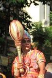 Junge Inder Bhim-eifrige Anhänger. Lizenzfreies Stockfoto