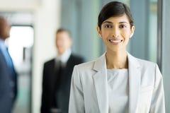Junge indische Geschäftsfrau Lizenzfreies Stockbild