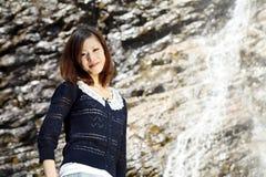 Junge japanische Frau Stockfotografie
