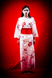 Junge japanische Geisha Lizenzfreie Stockfotos