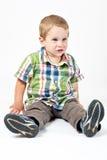 Junge Jungenaufstellung Lizenzfreie Stockbilder
