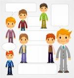 Junge Jungensprachekarte lizenzfreie abbildung