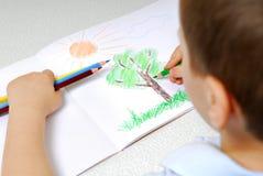 Junge Jungenzeichnung Stockbilder