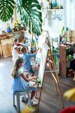 Junge Künstler Stockbild