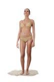 Junge kaukasische Frau im Bikini Lizenzfreies Stockfoto