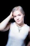 Junge kaukasische Frau Relateable Lizenzfreie Stockbilder