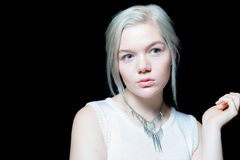 Junge kaukasische Frau Relateable Stockfotos