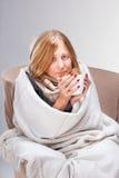 Junge kranke Frau lizenzfreies stockfoto