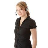 Junge Kundenkontaktcenterarbeitskraft lizenzfreie stockfotos